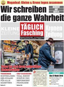 Titelseite TÄGLICH Fasching 2018